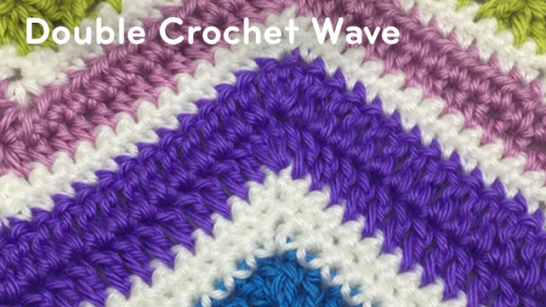 Crochet Wave Stitch : How to Crochet Herringbone Stitch Wave + Tutorial - The Crochet Crowd