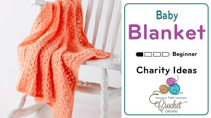 Easy Beginner Crochet Baby Blanket Tutorial : Crochet Easy Peasy Blanket + Tutorial - The Crochet Crowd
