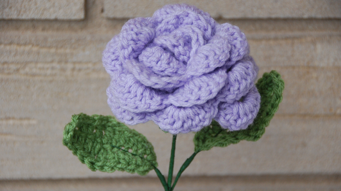 Crocheted Rose by Jeanne Steinhilber