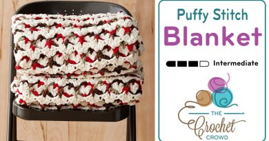 Crochet Puffy Stitch Blanket + Tutorial