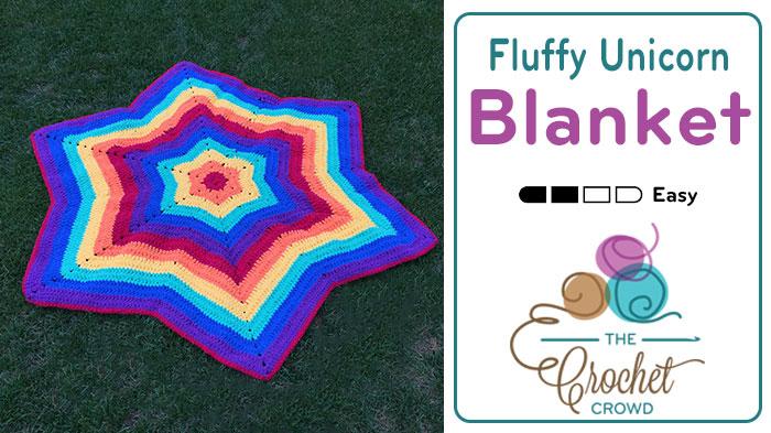 Crochet Fluffy Unicorn Afghan + Tutorial