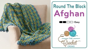 Crocheting In The Round Tutorial : Crochet Round the Block Afghan + Tutorial - The Crochet Crowd