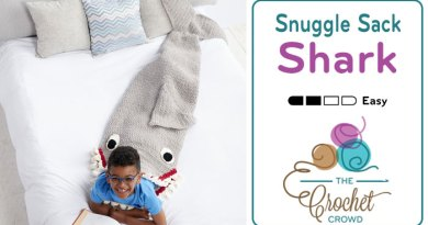 Crochet Shark Snuggle Sack + Tutorial