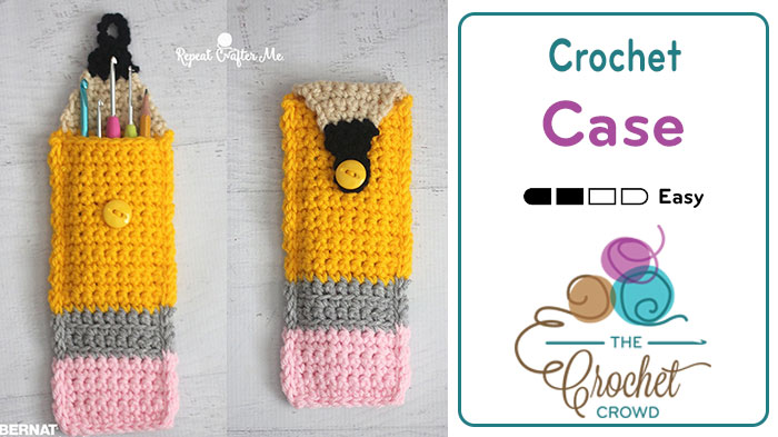 Crochet Pencil Case... Cutest Ever