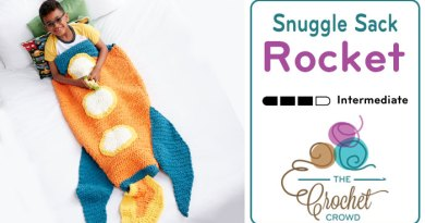 Crochet Rocket Snuggle Sack + Tutorial