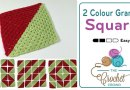 Crochet 2 Colour Granny Squares for Afghans + Tutorial