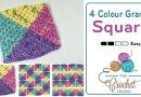 Crochet 4 Colour Granny Square Afghans + Tutorial