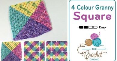 4 Colour Granny Square Afghans