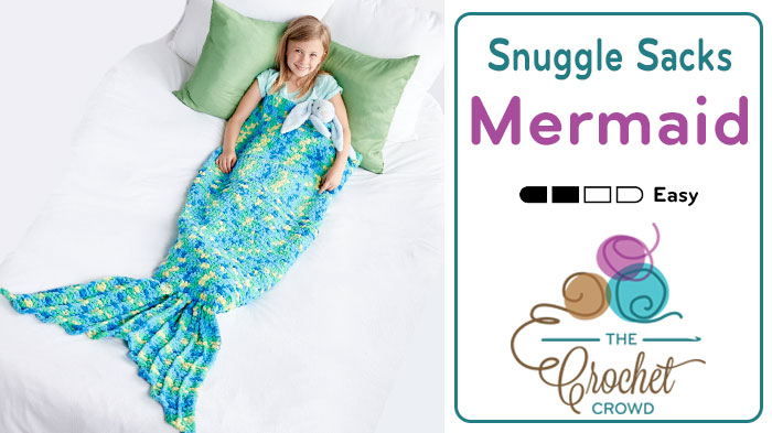Crochet Mermaid Tail Snuggle Sack + Tutorial