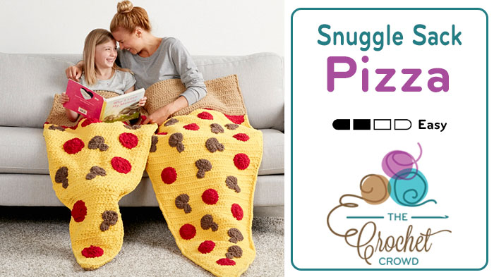 Crochet Pizza Snuggle Sack + Tutorial