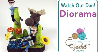 Moose on the Loose Crochet Diorama by The Crochet Crowd