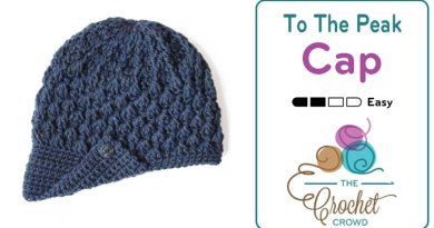 Crochet To The Peak Hat + Tutorial