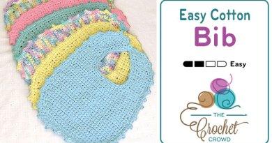 Crochet Bib Newborn – 6 Months + Tutorial