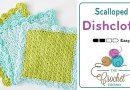 Crochet Scalloped Dishcloth + Tutorial