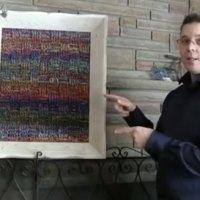 Yarn Painting Crochet Idea