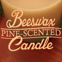Pine-Scented Beeswax Candle
