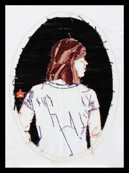 Serie Videbitis I bordado a mano sobre tela 19 x 30
