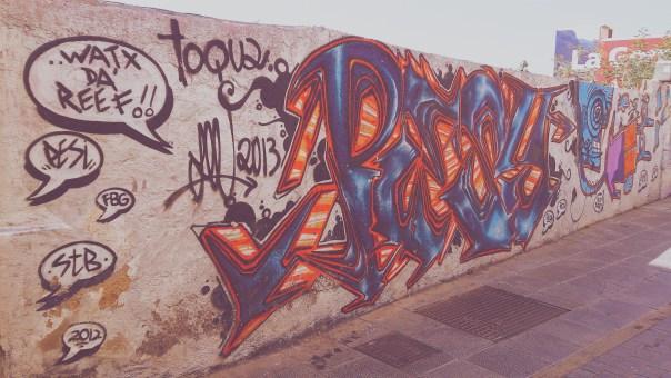 Muro anejo a la puerta trasera de la antigua Recova, Santa Cruz de Tenerife. Foto David Febo, 2015