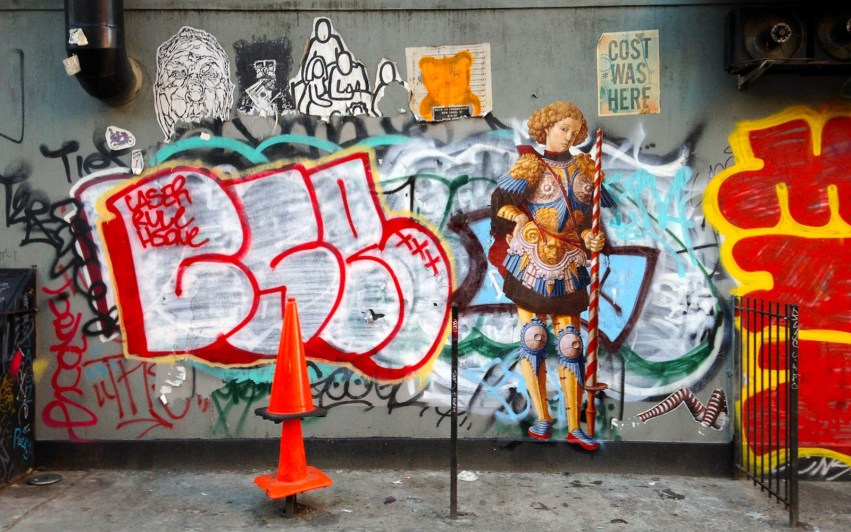 Anónimo, wheatpaste en el Lower East Side, Nueva York, 2015. Foto outingsproject.org