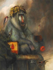 Bacchus, 48 x 36, oil on panel, 2010
