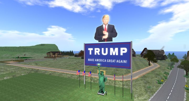 campana-de-donald-trump-en-secondlife