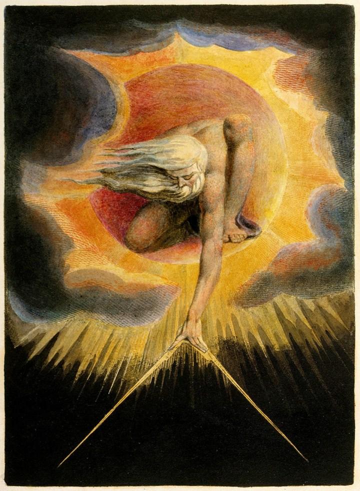 El anciano de los días, 1947, grabado. William Blake.