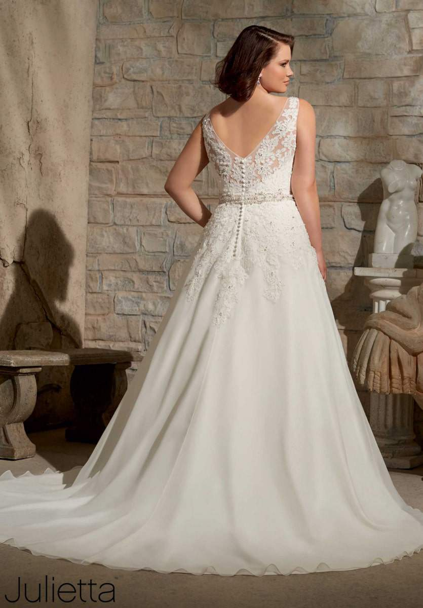 plus size bridal designer julietta by mori lee a 6 julietta wedding dress Learn more about this plus size bridal gown and the many others at MoriLee com