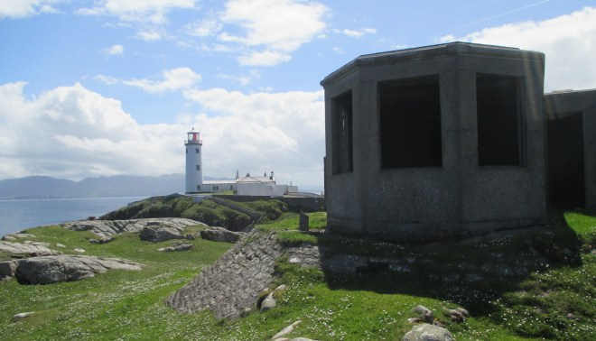A now derelict lookout station beside Fanad lighthouse