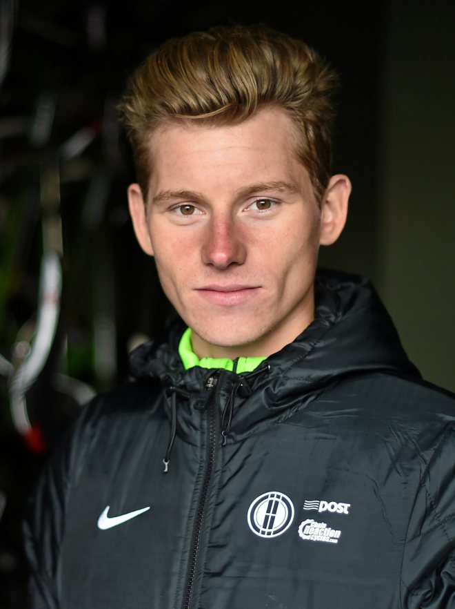 3 April 2015; Irish rider Ryan Mullen of the An Post Chain Reaction Sean Kelly Team poses for a portrait at the 2015 team launch. Gent, Belgium. Picture credit: Ramsey Cardy / SPORTSFILE *** NO REPRODUCTION FEE ***