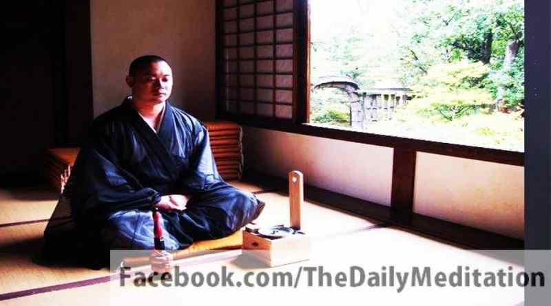 Zen monk meditating in Japan