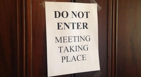 Legislators meet in secret
