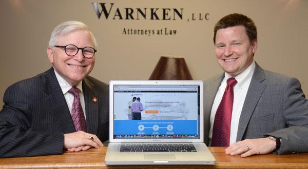 Online tool promotes Warnken LLC's P.I. practice