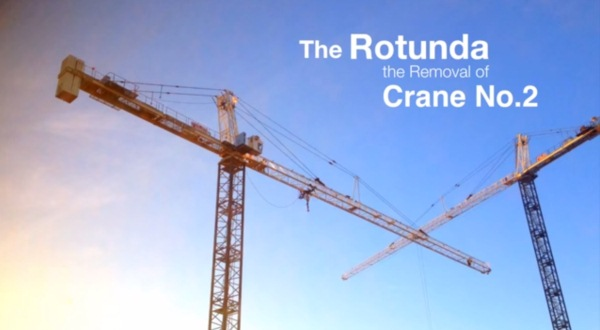 Watch this time-lapse of a Rotunda crane being dismantled