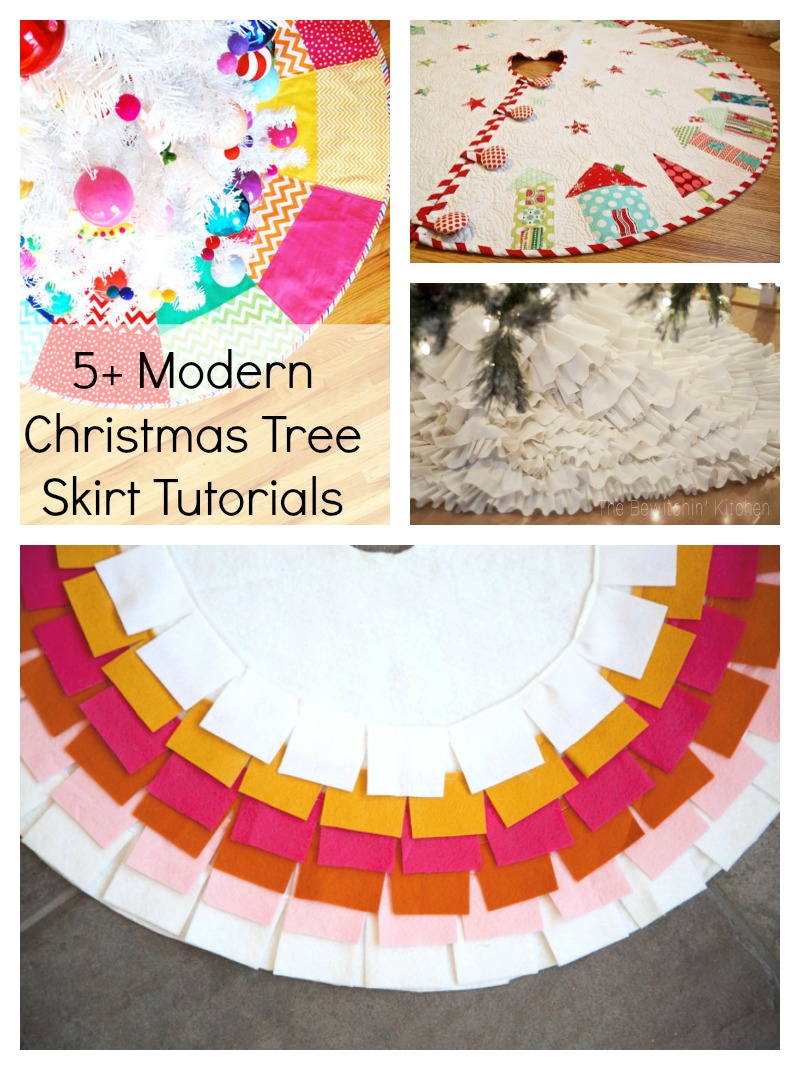 Modern christmas tree skirts the daily seam