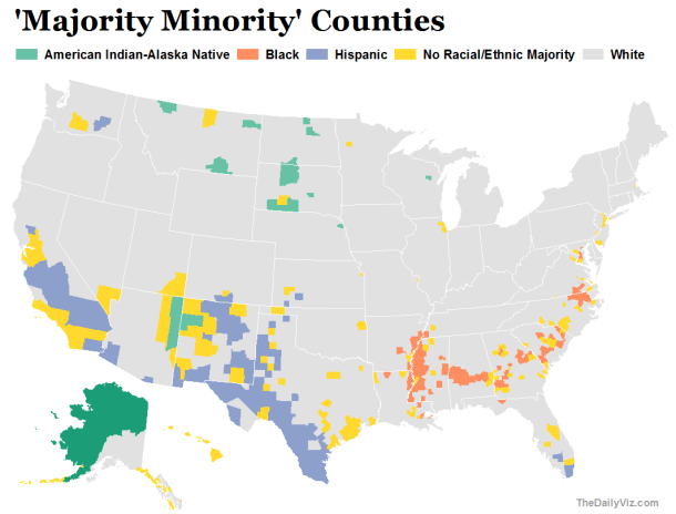 'Majority Minority' Counties