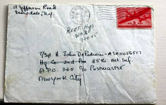 WWII letter finds way home to Pequannock 70 years later