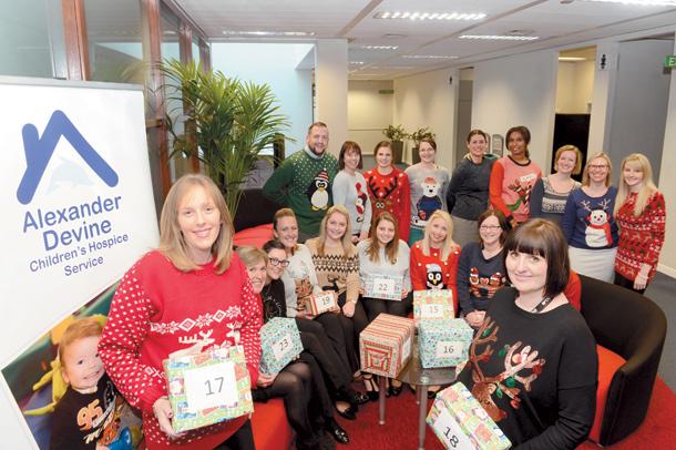 Recruitment firm's Christmas jumper day raises cash for Alexander Devine