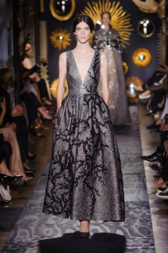 Lace Goes Dark With Valentino's Dramatic Couture
