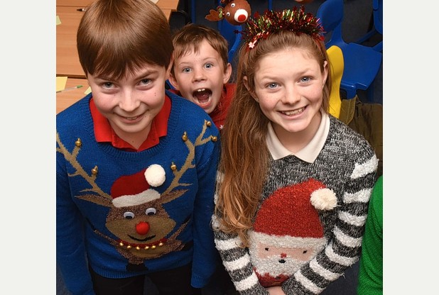 Christmas 2015: School raises money for charity with Christmas jumper day