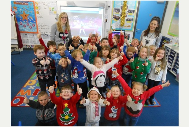 Plymouth pupils raise hundreds with festive fundraiser on Christmas Jumper Day