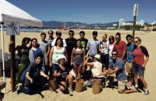 Coastal Cleanup Day Draws Sea of Volunteers To Santa Monica Beaches