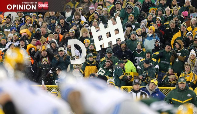 I'm giving my tickets to Packers fans