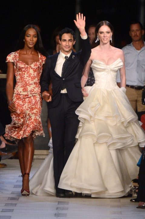 Naomi! Karolina! Coco! Supermodels in fab gowns add high drama to Zac Posen ...