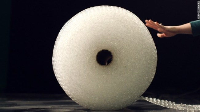 How do you pop bubble wrap? Show us on video