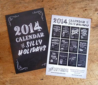 2014 Silly Holidays Calendar