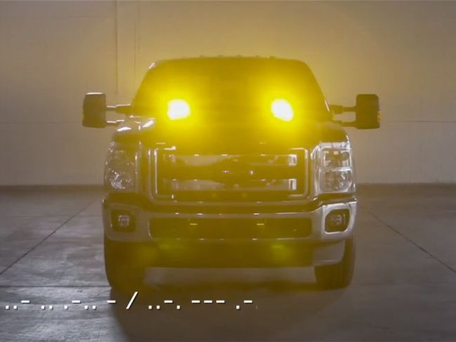 Ford F-Series Super Duty Strobe Lights Wish You a Happy Morse Code Day