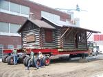 A smooth move: Log cabin travels to new site at museum