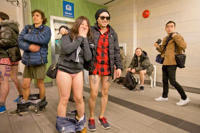 26 photos and videos of the No Pants SkyTrain ride in Vancouver