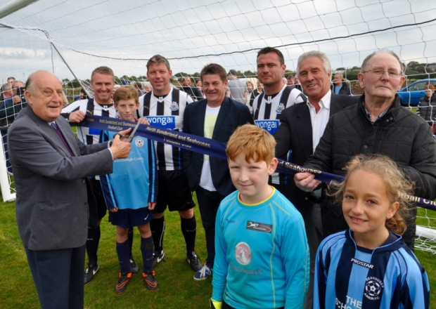 NUFC legends kick off new Seahouses sports facility