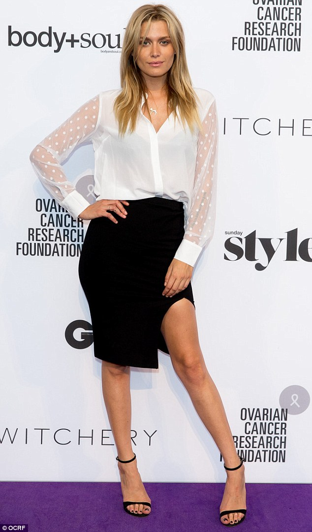 Cheyenne Tozzi cosies up to ANTM host Didier Cohen for White Shirt Day